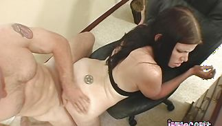 Bf with biggest pipe gets sucked and ridden by a worshipped babe Holly Lane