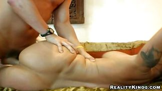 Nasty Kayla Quinn enjoys riding huge and hard chopper