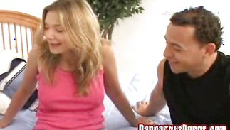 Prurient blond Victoria is getting a good fuck and likes it