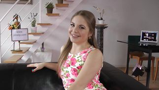Lusty juvenile lady Alessandra likes getting handled by a real boyfriend
