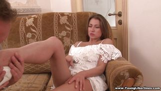 Pleased Leza Balezi getting her beaver drilled hard
